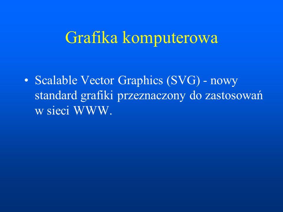 Grafika komputerowa Scalable Vector Graphics (SVG) - nowy standard grafiki przeznaczony do zastosowań w sieci WWW.