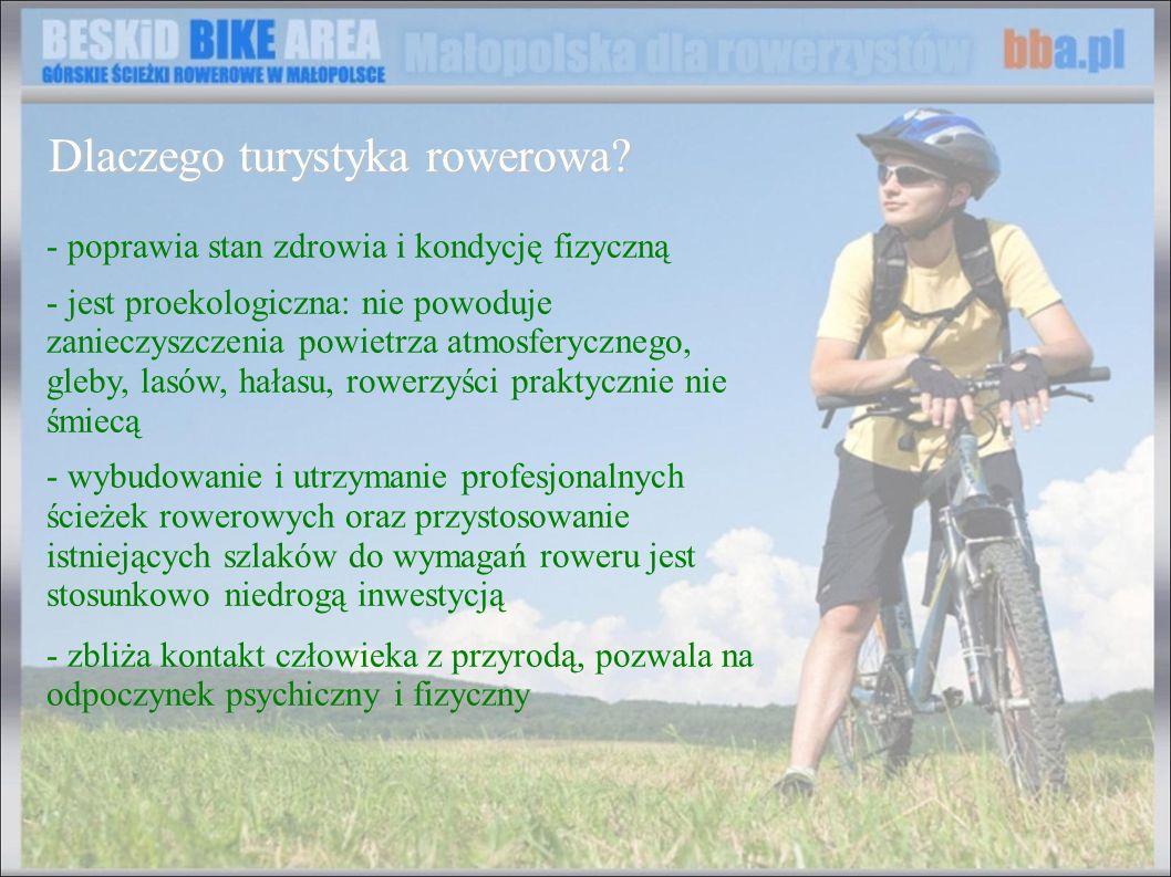 - poprawia stan zdrowia i kondycję fizyczną - jest proekologiczna: nie powoduje zanieczyszczenia powietrza atmosferycznego, gleby, lasów, hałasu, rowe