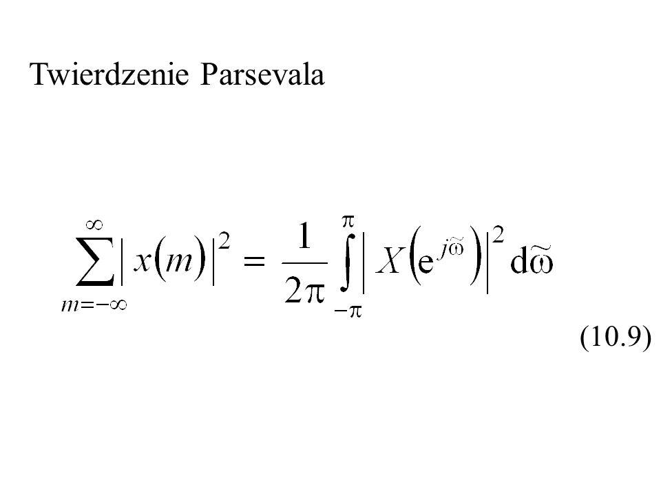 Twierdzenie Parsevala (10.9)