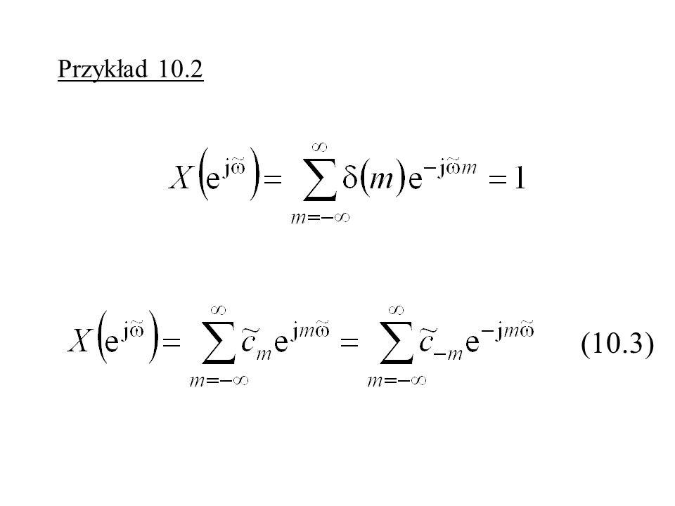 Odpowiedź dyskretnych sygnałów liniowych i stacjonarnych Rys. 10.1