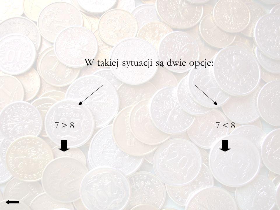 Sposób Przy pierwszym ważeniu musimy podzielić monety na kupki po 3, gdyż inaczej (po jednej, dwóch czy czterech) ważenia będą nieskuteczne.