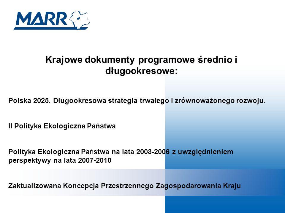 Krajowe dokumenty programowe średnio i długookresowe: Polska 2025.