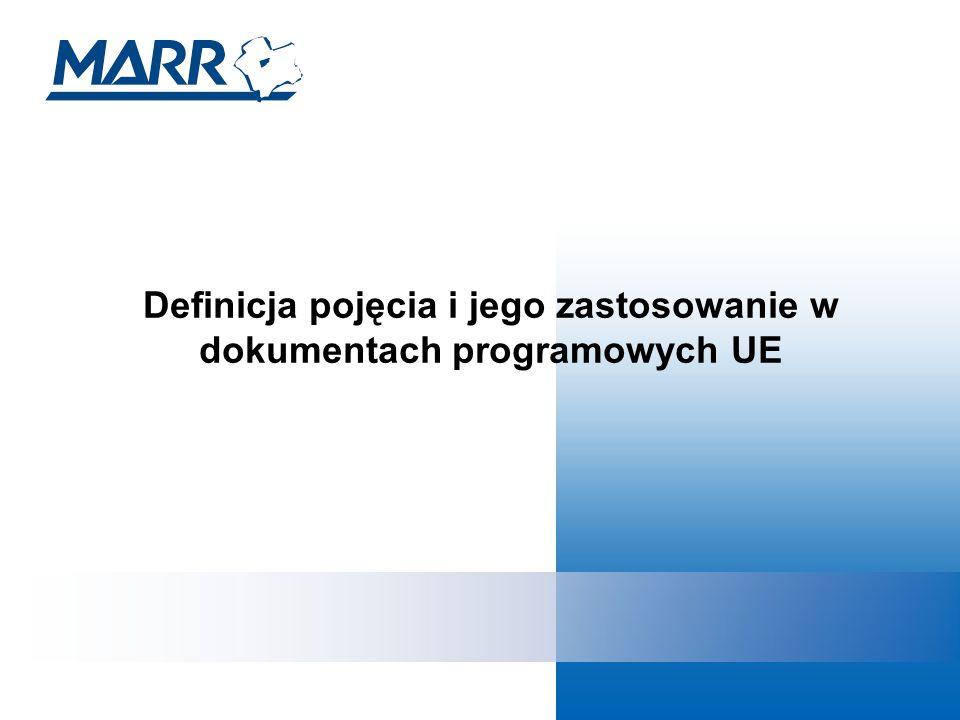 Definicja pojęcia i jego zastosowanie w dokumentach programowych UE