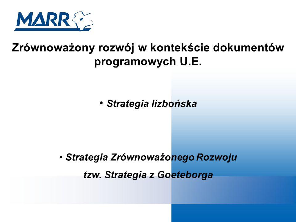 Zrównoważony rozwój w kontekście dokumentów programowych U.E.