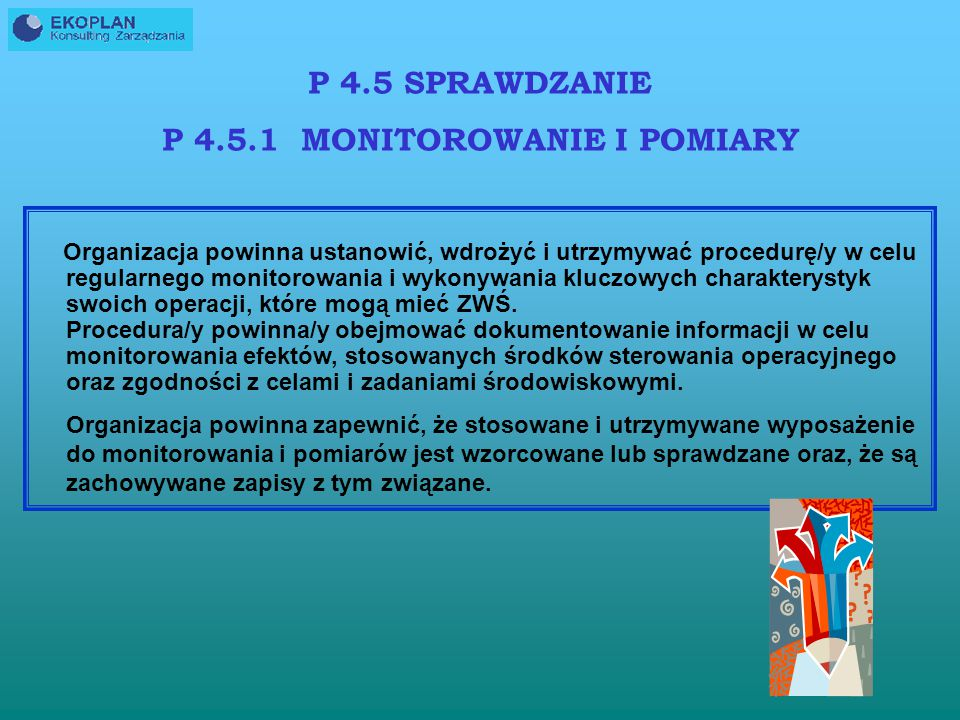 Organizacja powinna ustanowić, wdrożyć i utrzymywać procedurę/y identyfikowania możliwych sytuacji niebezpiecznych i awarii, które mogą mieć wpływ/y n