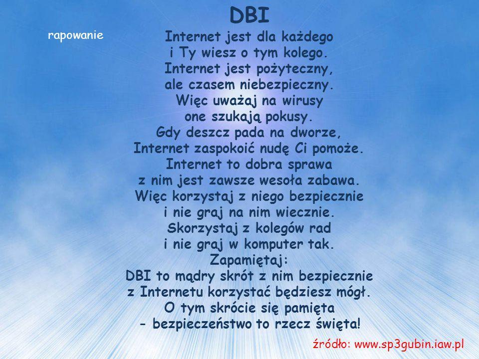 DBI Internet jest dla każdego i Ty wiesz o tym kolego.