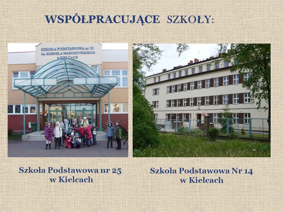 WSPÓŁPRACUJĄCE SZKO Ł Y: Szkoła Podstawowa Nr 14 w Kielcach Szkoła Podstawowa nr 25 w Kielcach