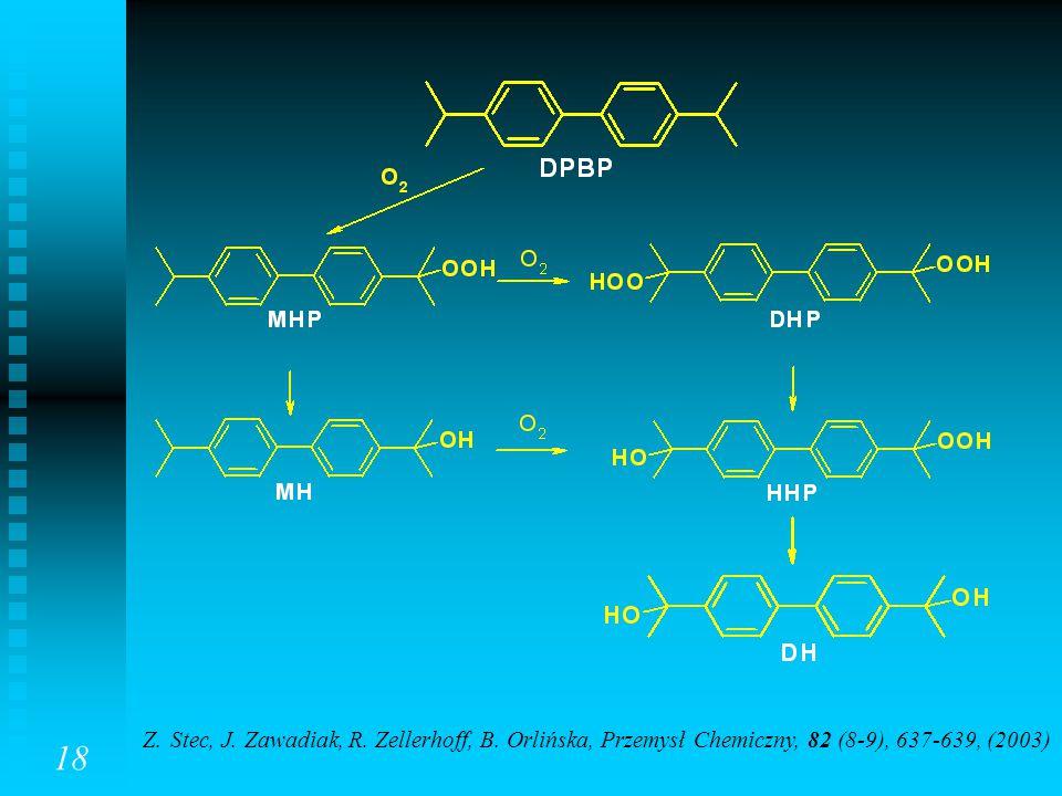 18 Z. Stec, J. Zawadiak, R. Zellerhoff, B. Orlińska, Przemysł Chemiczny, 82 (8-9), 637-639, (2003)