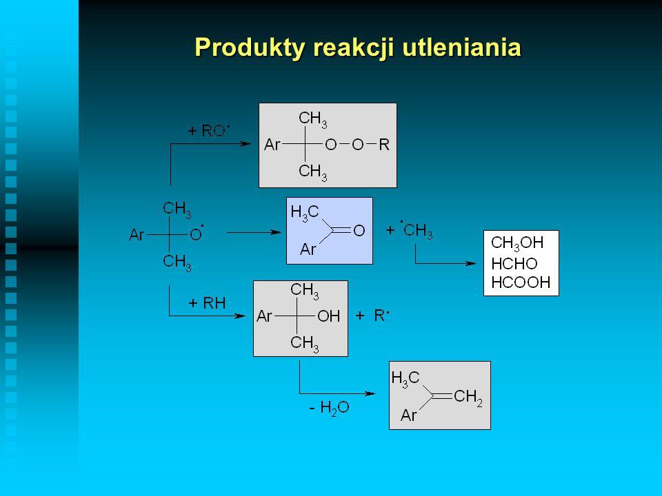 Produkty reakcji utleniania