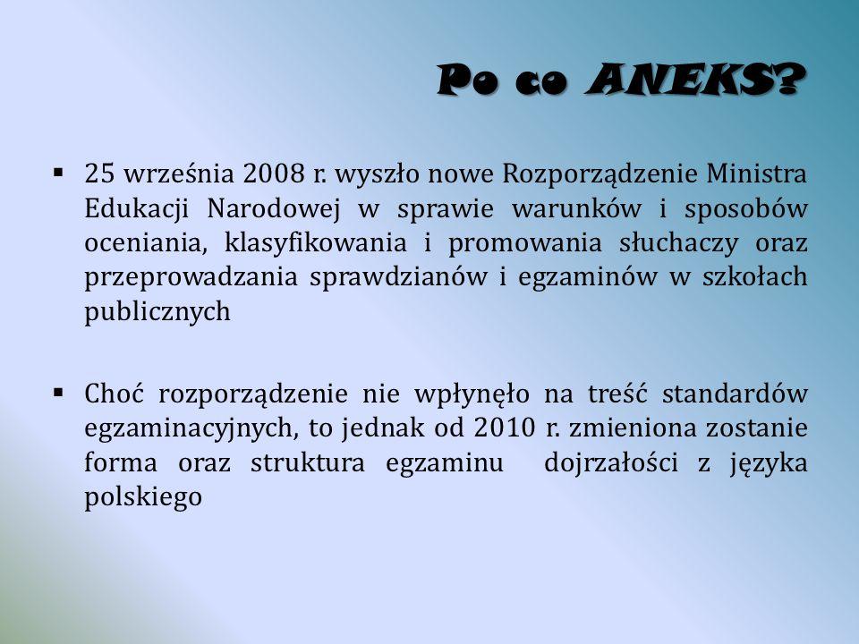 Po co ANEKS.  25 września 2008 r.