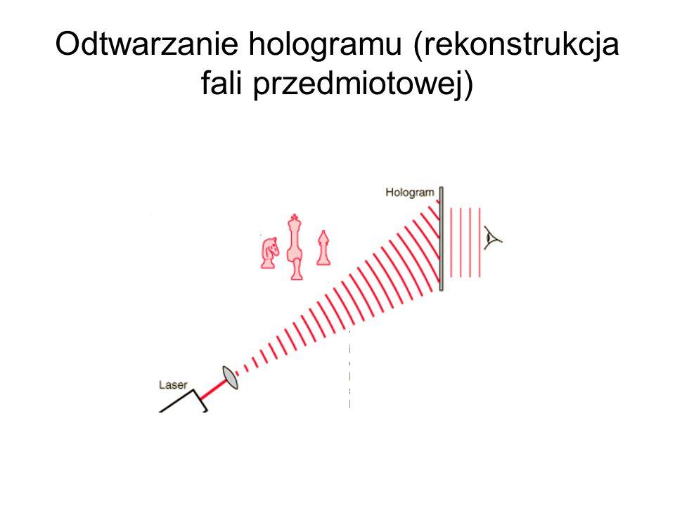 Odtwarzanie hologramu (rekonstrukcja fali przedmiotowej)