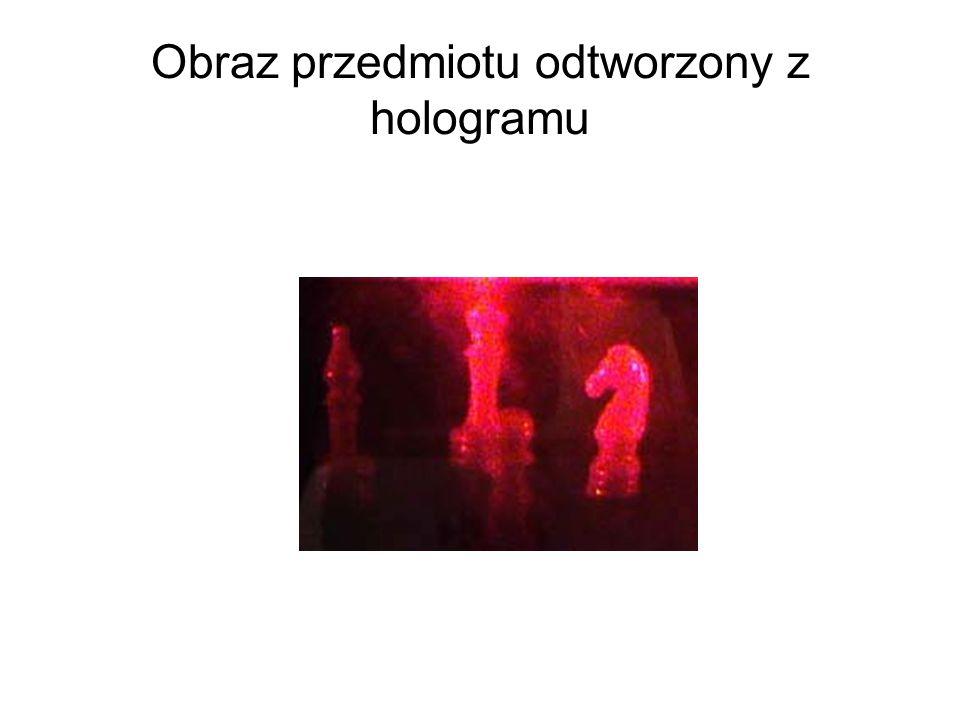 Obraz przedmiotu odtworzony z hologramu