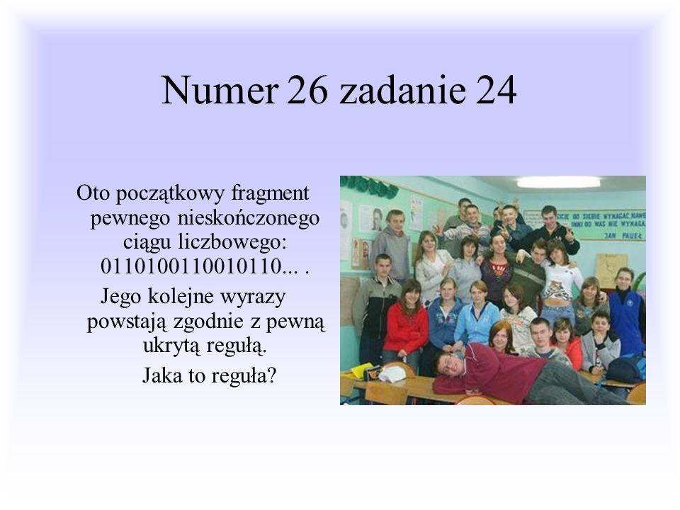 Pewnego dnia do polskiej bazy wojskowej dotarł szyfr: 0110100110010110 Trzeba było go rozwiązać, dowództwo przeznaczyło to zadanie 3 szyfrantom.