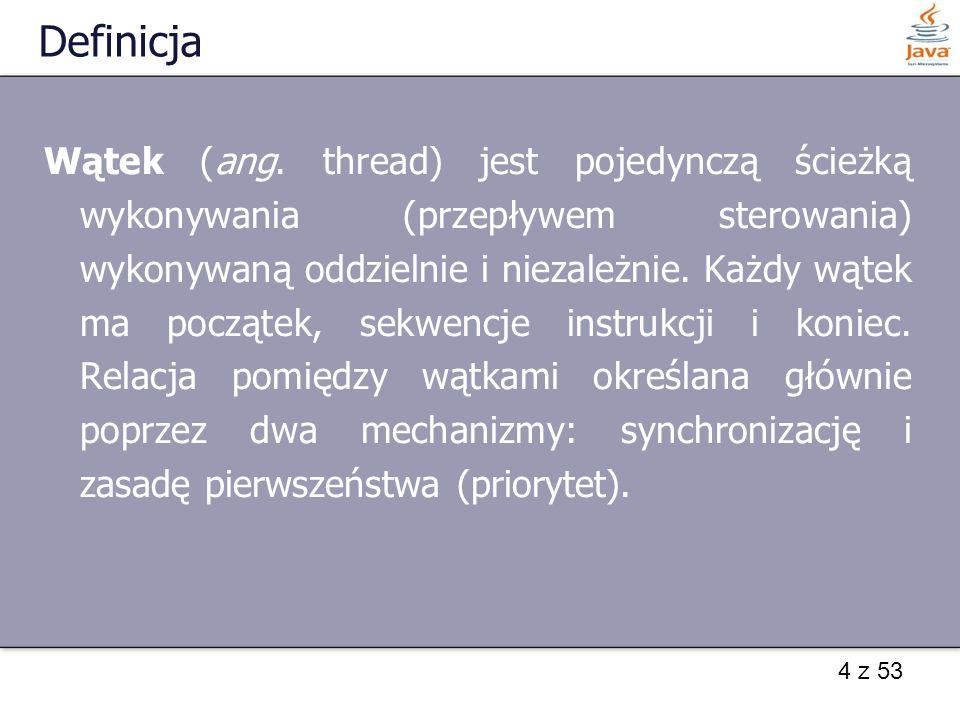 4 z 53 Definicja Wątek (ang.