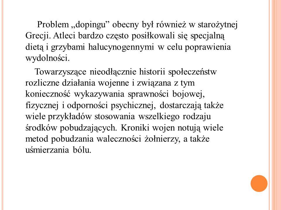 """Problem """"dopingu"""" obecny był również w starożytnej Grecji. Atleci bardzo często posiłkowali się specjalną dietą i grzybami halucynogennymi w celu popr"""