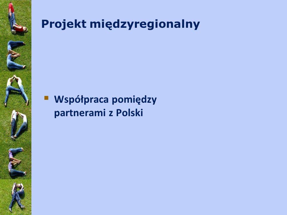 Projekt międzyregionalny  Współpraca pomiędzy partnerami z Polski