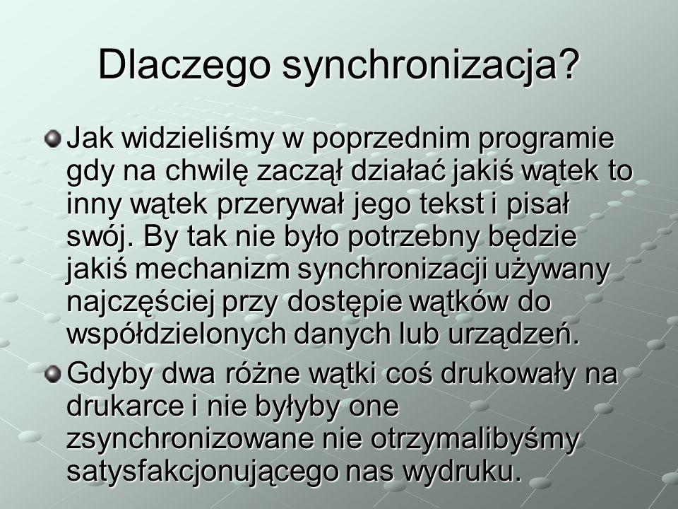 Dlaczego synchronizacja.