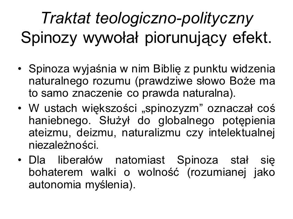 Traktat teologiczno-polityczny Spinozy wywołał piorunujący efekt.
