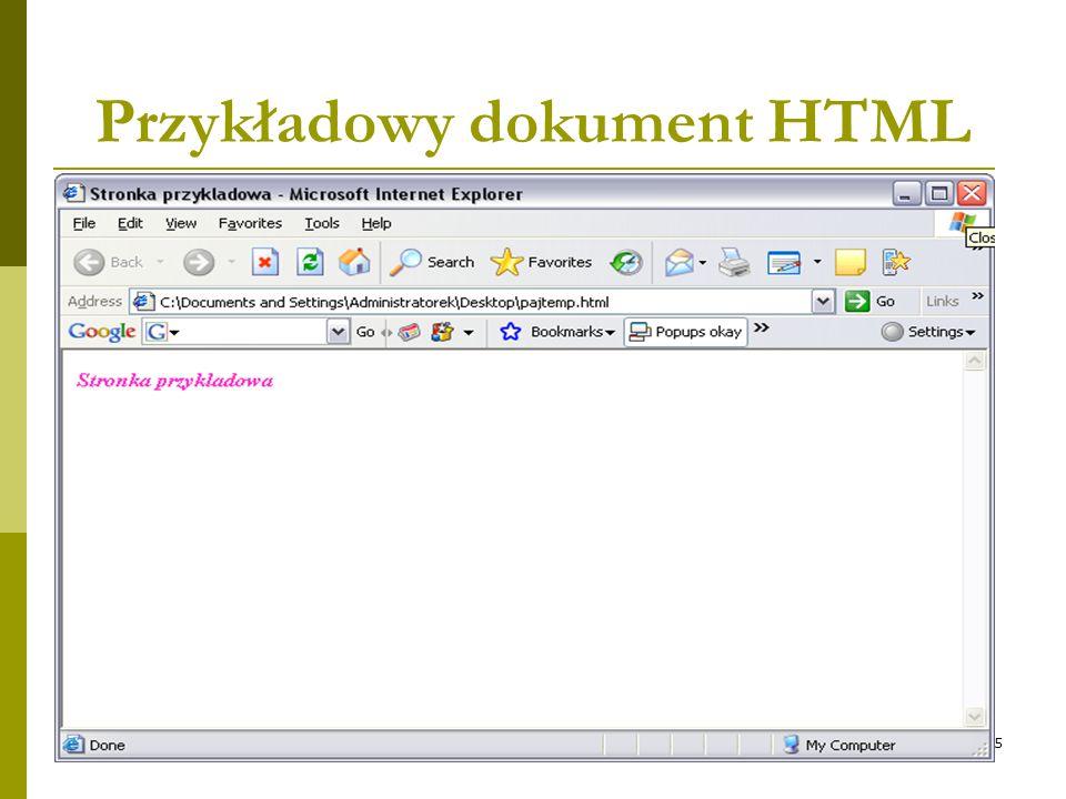 5 Przykładowy dokument HTML