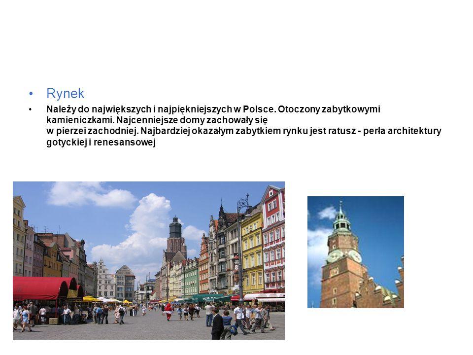 Rynek Należy do największych i najpiękniejszych w Polsce.