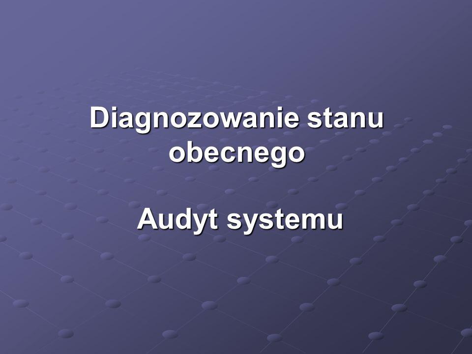 Diagnozowanie stanu obecnego Audyt systemu