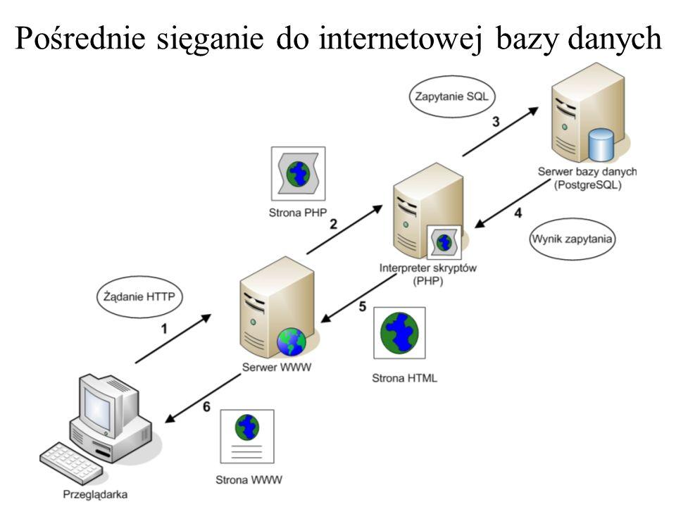 """Typowa interakcja """"klient-serwer w Internecie"""