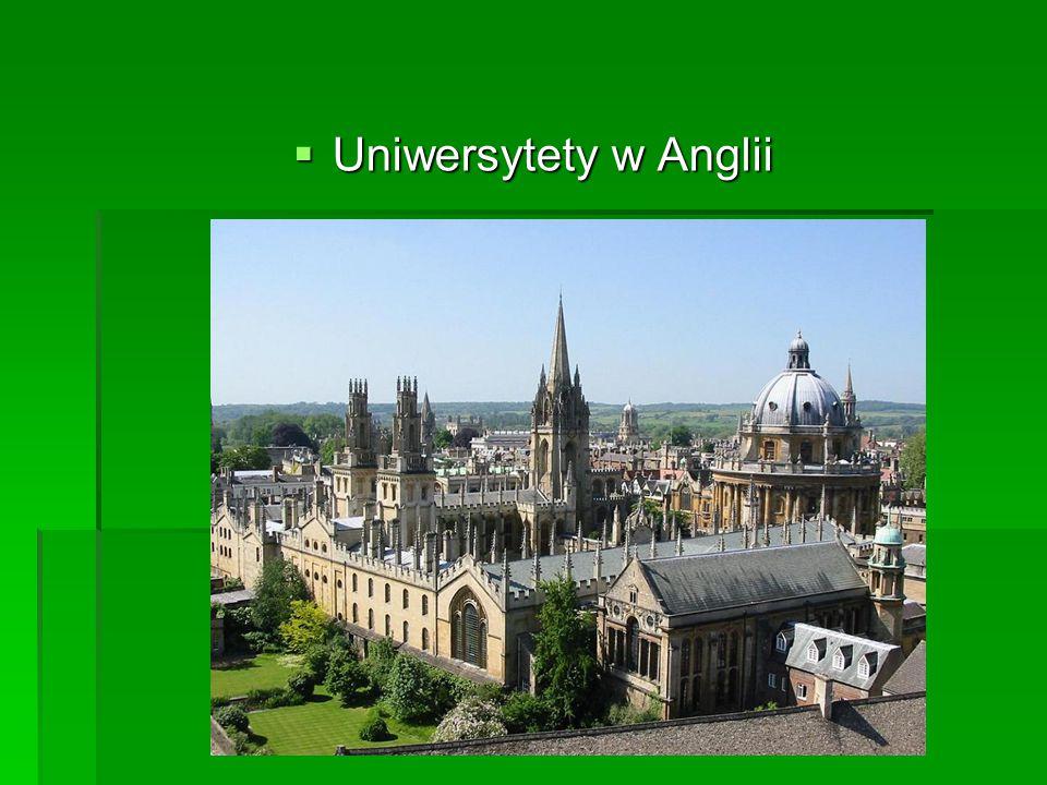 Uniwersytety w Anglii