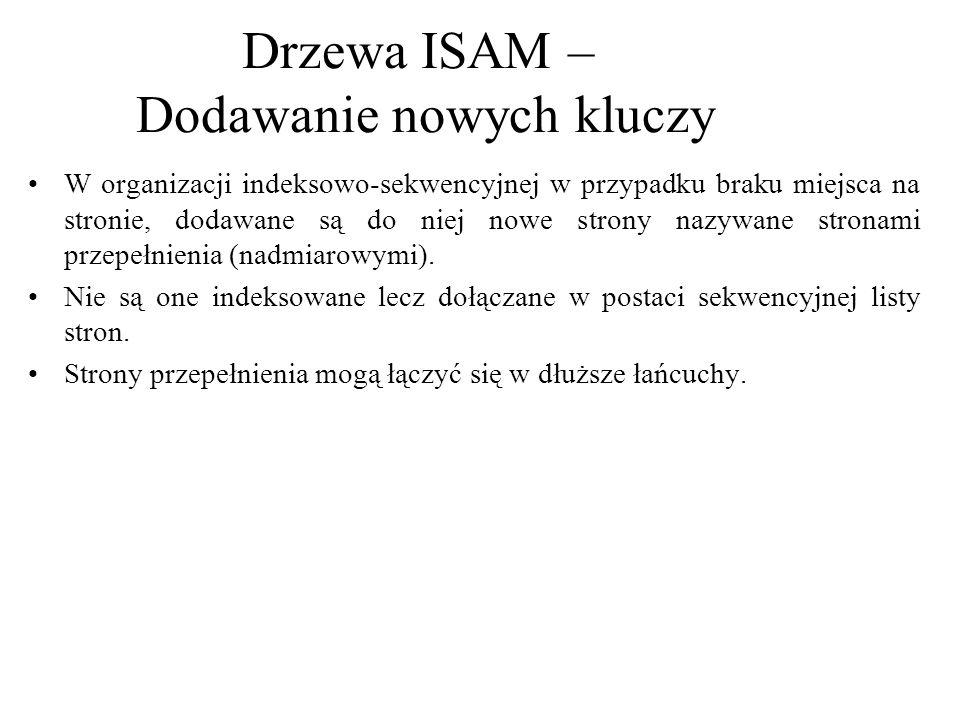 Usuwanie wpisów z drzewa ISAM jest w zasadzie odwróceniem operacji wstawiania.
