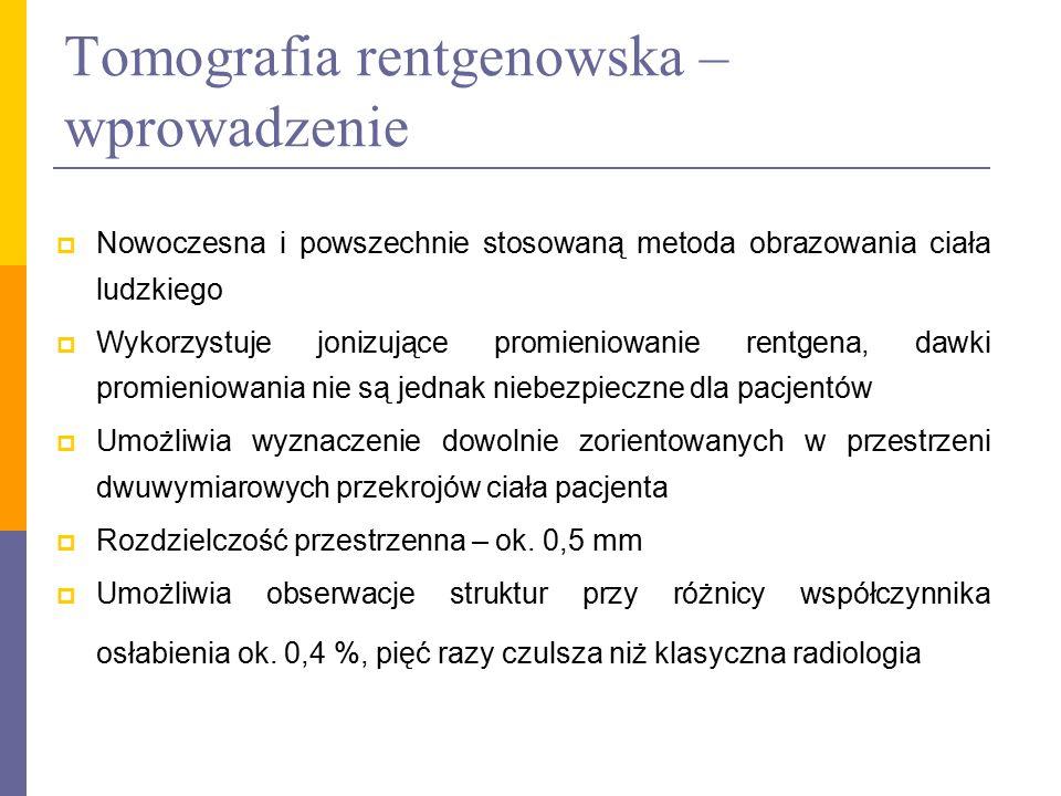 Promieniowanie rentgenowskie  Promieniowanie rentgenowskie uzyskuje się w lampie rentgenowskiej poprzez skierowanie rozpędzonych elektronów na materiał o dużej (powyżej 20) liczbie atomowej Z  Na skutek efektu fotoelektrycznego i zjawiska hamowania następuje emisja promieniowania X  Promieniowanie rentgenowskie (promienie X) – promieniowanie elektromagnetyczne o dł.