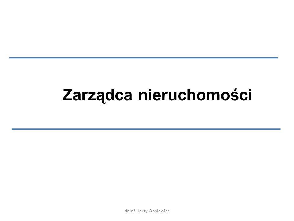 Zarządca nieruchomości dr inż. Jerzy Obolewicz