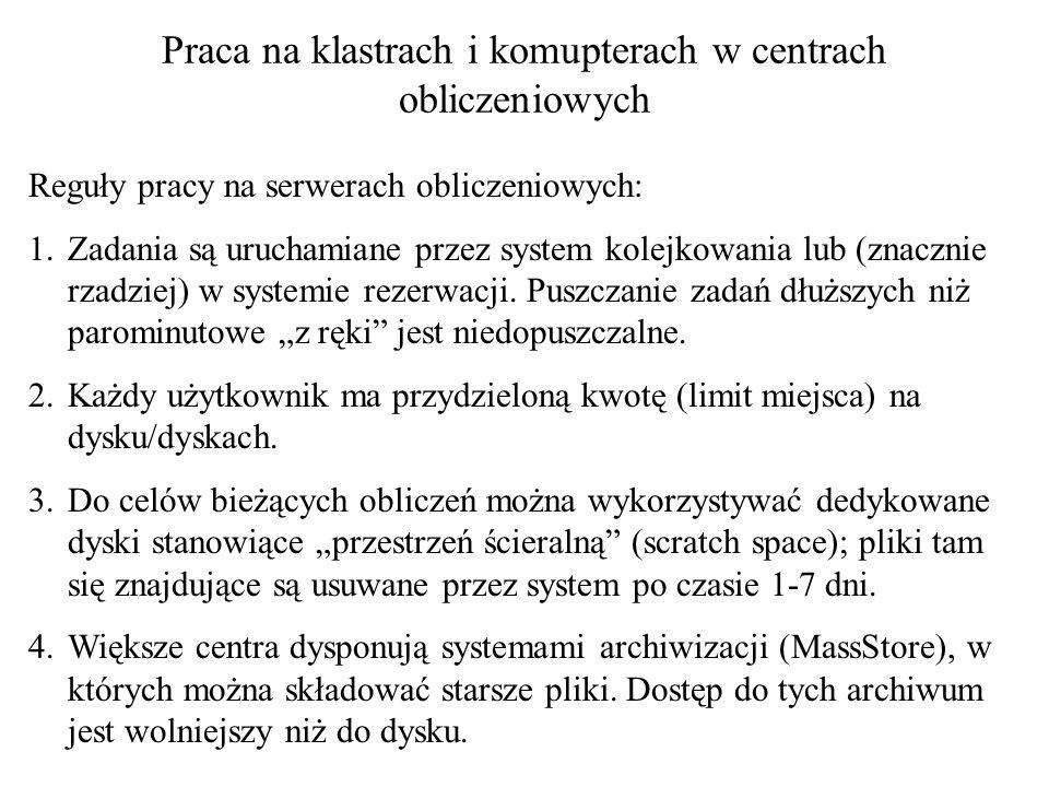 Minimalizacja energii, optymalizacja globalna ECEPPAK (pole siłowe ECEPP/3) http://cbsu.tc.cornell.edu/software/eceppak/ Dokowanie ligandów do receptorów AUTODOCK http://autodock.scripps.edu/ Skrócony opis programów po polsku ICM Warszawa http://www.icm.edu.pl/kdm/Oprogramowaniehttp://www.icm.edu.pl/kdm/Oprogramowanie CI TASK Gdańsk http://wiki.task.gda.pl/wiki/Kategoria:Chemiahttp://wiki.task.gda.pl/wiki/Kategoria:Chemia
