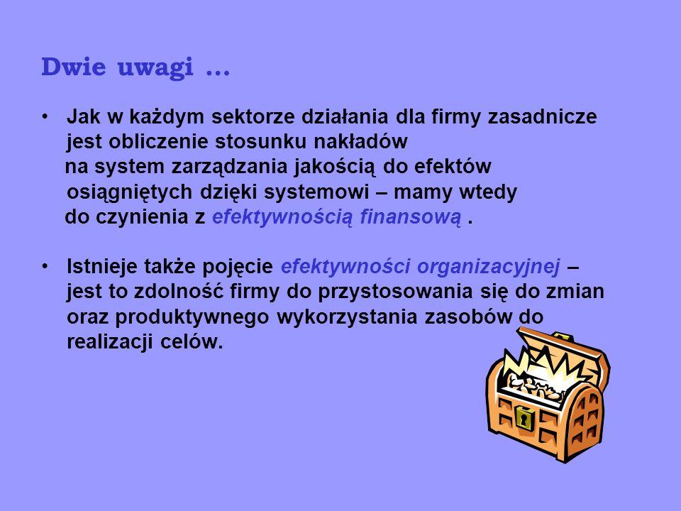 Ogólne zasady 1.Uważa się, ze efektywność rozpoczyna się na stanowisku pracy 2.Problemem jest ocena dwukierunkowa – od stanowiska i od procesu ; musi ona koncentrować się na wspólnych, syntetycznych wskaźnikach 3.Ocena i działania pro efektywnościowe mają sens dla procesów skutecznych ; czyli relacja skuteczność – efektywność ma określoną kolejność 4.A więc należy - wprowadzić odpowiednie cele i mierniki - powiązać je na poziomie stanowiska, procesu i organizacji - wykorzystywać uzyskane informacje 5.