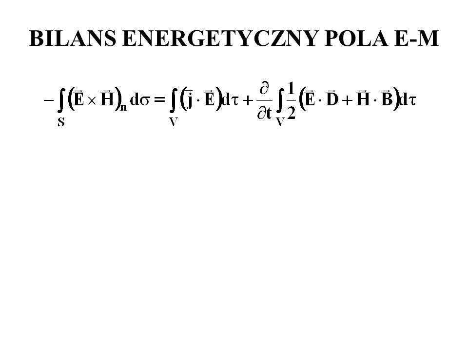 BILANS ENERGETYCZNY POLA E-M