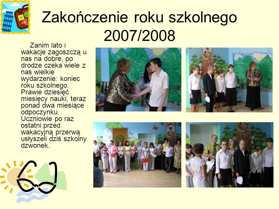 Konkursy W roku szkolnym 2007/2008 odbyło się kilka konkursów plastycznych wewnątrz i zewnątrz szkolnych oraz przegląd mini listy przebojów, w których