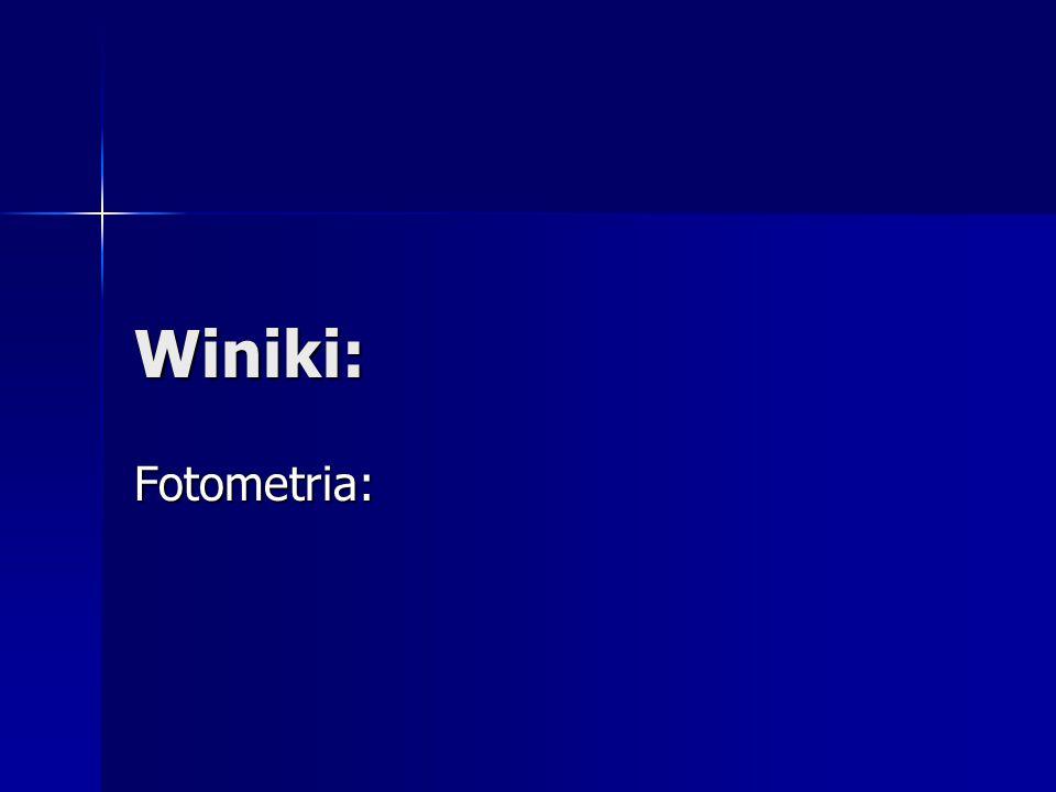 Winiki: Fotometria: