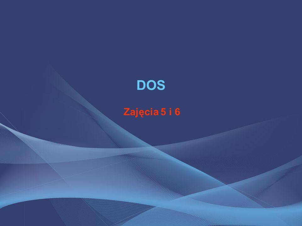 DOS – polecenia Atrybuty pliku, to dodatkowe informacje dołączane do pliku, których zadaniem jest opisywać i regulować jego użycie.