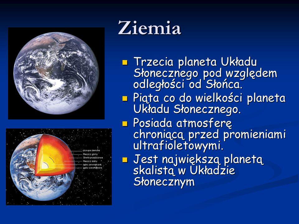 Ziemia Trzecia planeta Układu Słonecznego pod względem odległości od Słońca. Trzecia planeta Układu Słonecznego pod względem odległości od Słońca. Pią