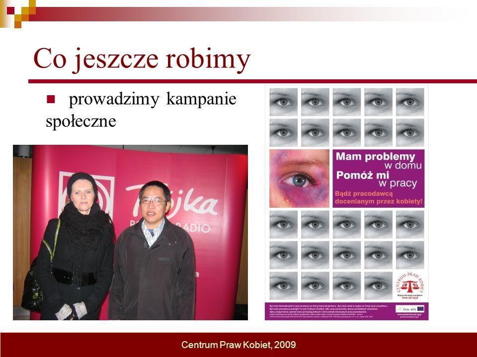 Co jeszcze robimy prowadzimy kampanie społeczne Centrum Praw Kobiet, 2009