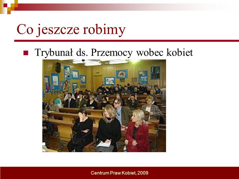 Co jeszcze robimy Trybunał ds. Przemocy wobec kobiet Centrum Praw Kobiet, 2009