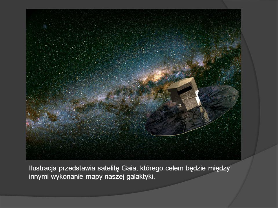 Ilustracja przedstawia satelitę Gaia, którego celem będzie między innymi wykonanie mapy naszej galaktyki.