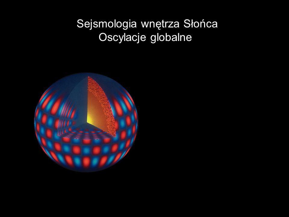 Sejsmologia wnętrza Słońca Oscylacje globalne