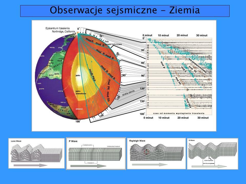 Obserwacje sejsmiczne - Ziemia