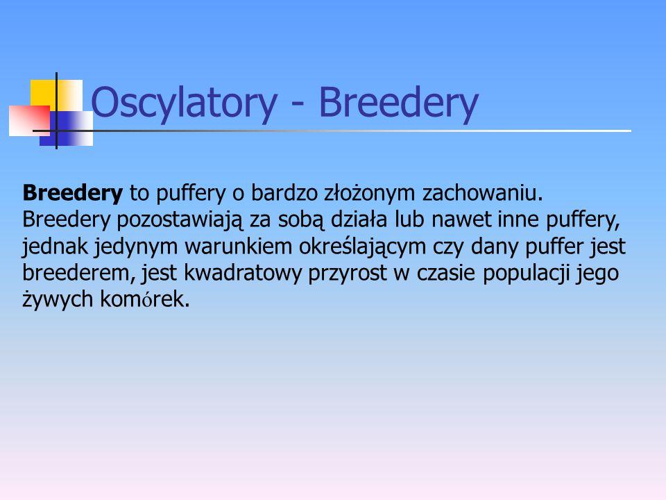 Oscylatory - Breedery Breedery to puffery o bardzo złożonym zachowaniu. Breedery pozostawiają za sobą działa lub nawet inne puffery, jednak jedynym wa