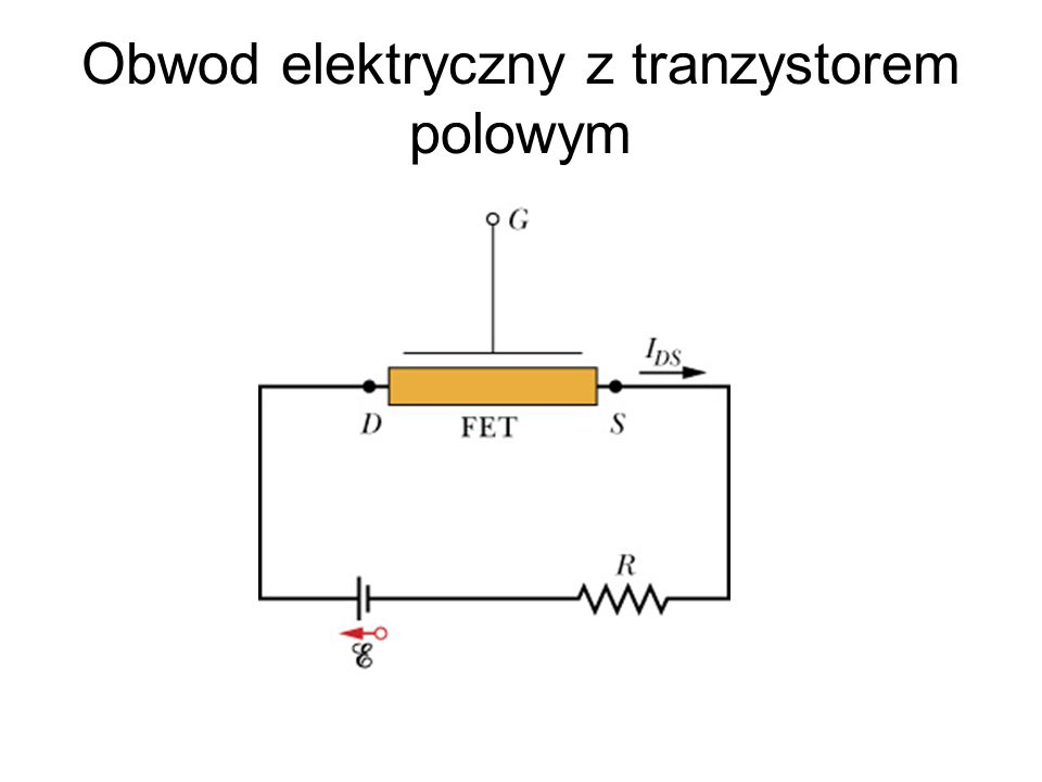 Obwod elektryczny z tranzystorem polowym