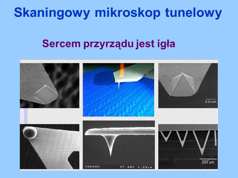 Sercem przyrządu jest igła Skaningowy mikroskop tunelowy