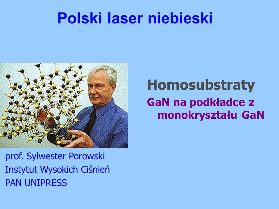 Polski laser niebieski prof. Sylwester Porowski Instytut Wysokich Ciśnień PAN UNIPRESS Homosubstraty GaN na podkładce z monokryształu GaN