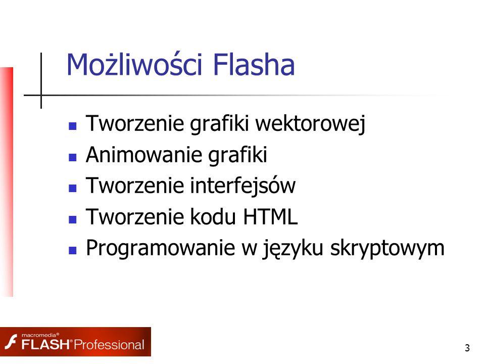 4 Historia Flasha Flash rozpoczął swoje istnienie pod nazwą Splash Animator.