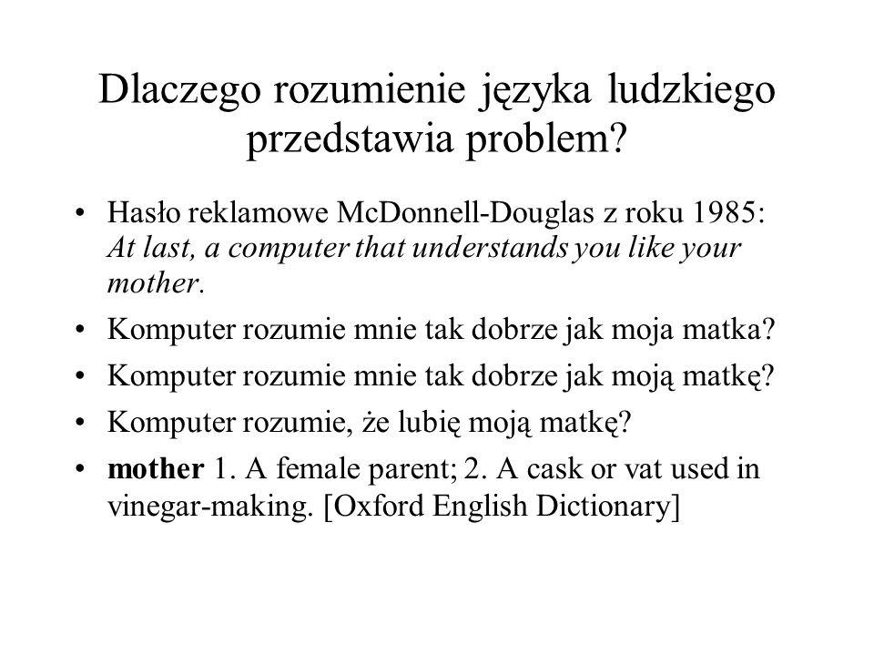 Dlaczego rozumienie języka ludzkiego przedstawia problem.