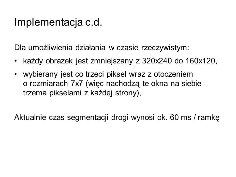Implementacja c.d.