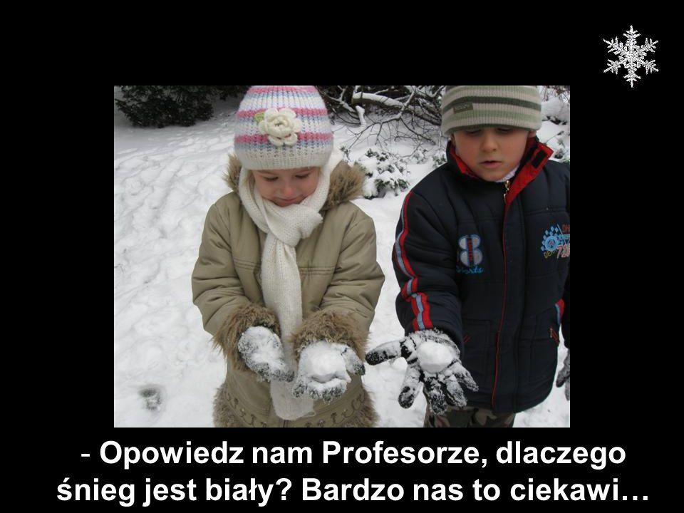- Opowiedz nam Profesorze, dlaczego śnieg jest biały? Bardzo nas to ciekawi…
